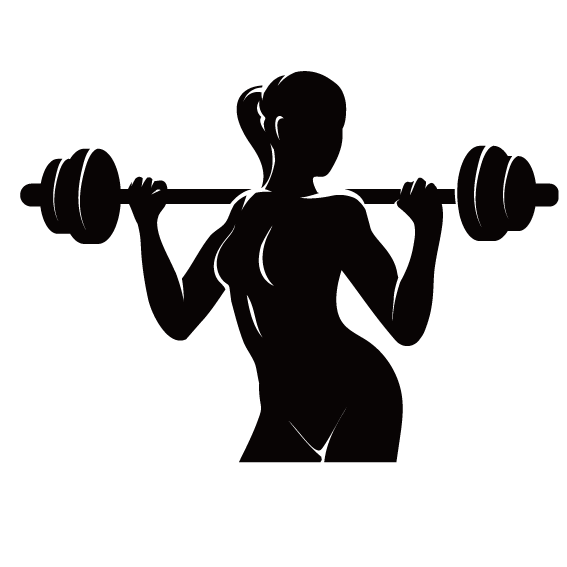 png black and white download Physical fitness logo centre. Weightlifting vector