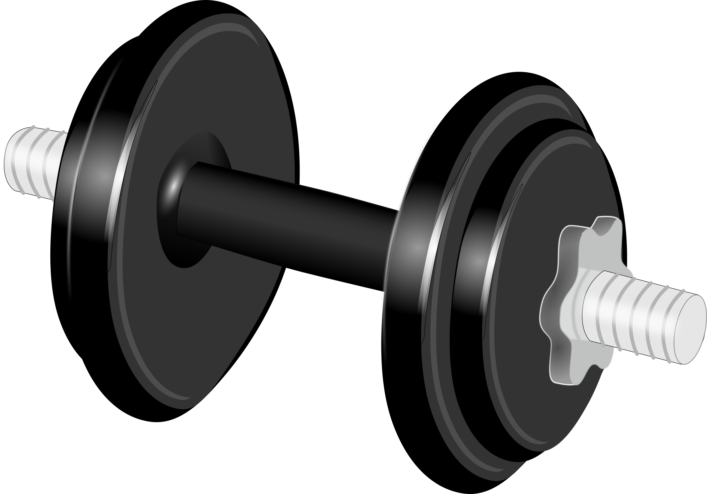 picture black and white library Dumbbells Clipart exercise tool