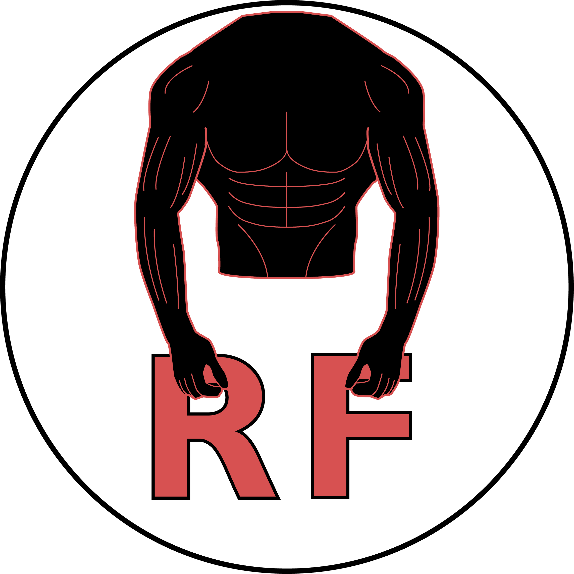 svg free Strength training with back. Arm flexing clipart.