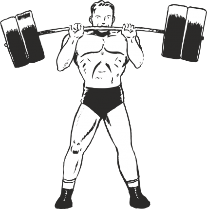 black and white Barbell clipart weight training. Category plus walls uk