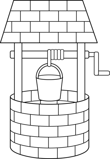 svg library Wishing Well Black And White Clipart