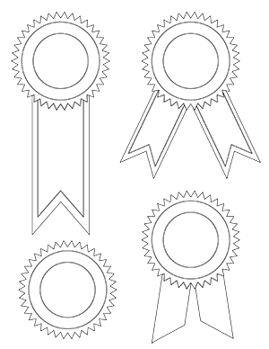 picture black and white Printable Award Ribbons