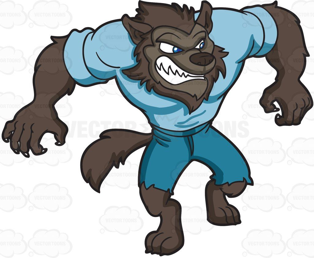 graphic royalty free A sleek cartoon vector. Werewolf clipart.