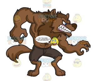 transparent download A muscular . Werewolf clipart