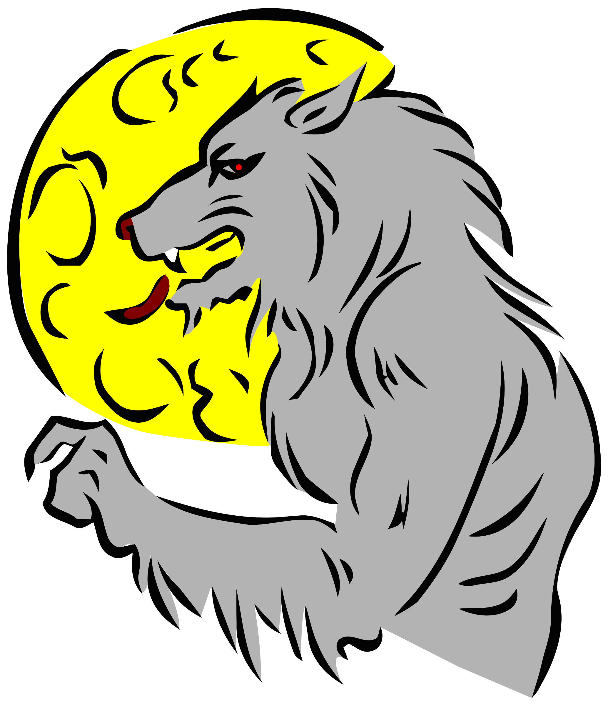 picture freeuse stock Werewolf clipart. And moon in color.