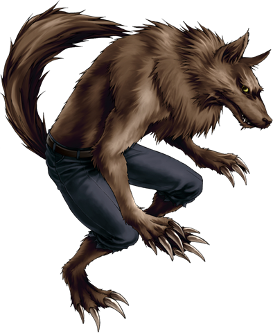 banner royalty free library Werewolf clipart. Halloween graphics werewolfpng