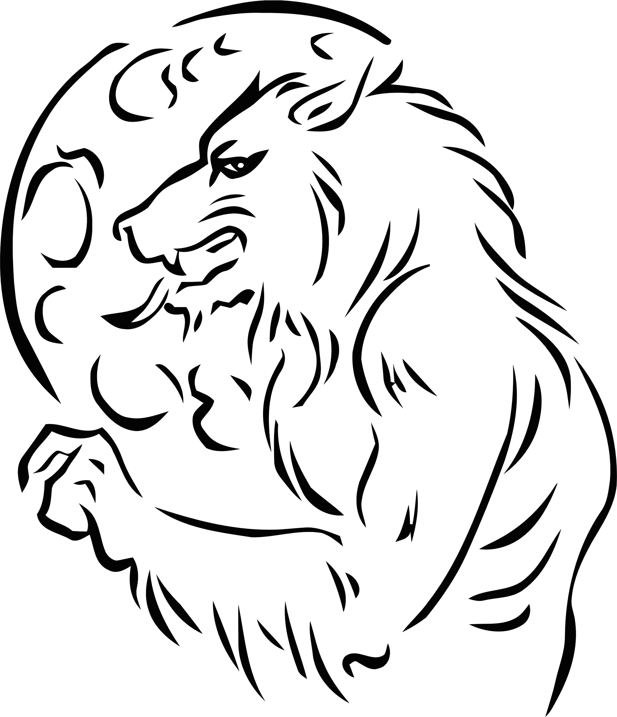 svg free stock Werewolf clipart black and white. Big image png