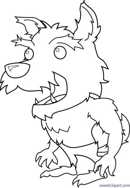 clip free library Werewolf clipart black and white. Sweet clip art page