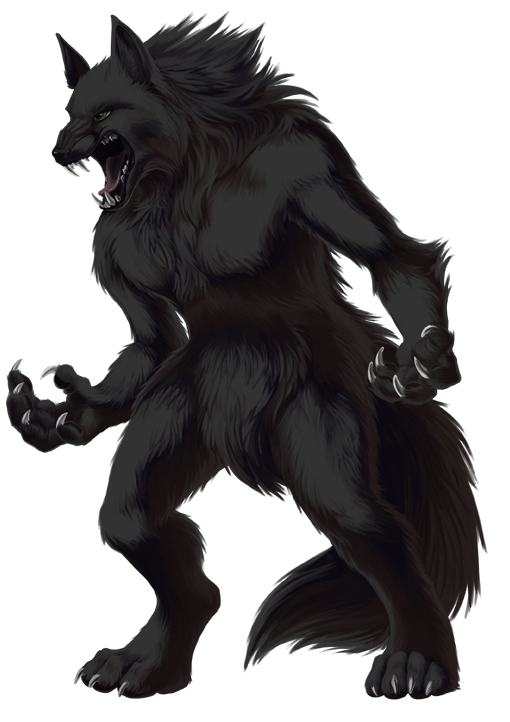 image library download Png transparent image mart. Werewolf clipart black and white