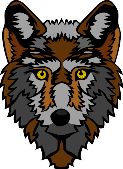 clipart library library Crow clipart head. Stylized wolf clip art
