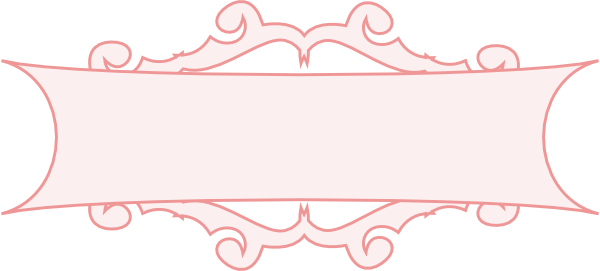 graphic freeuse download Pink border clip art. Western banner clipart