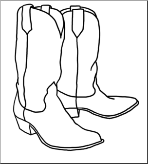 clipart library library Western boot clipart. Cowboy clip art theme
