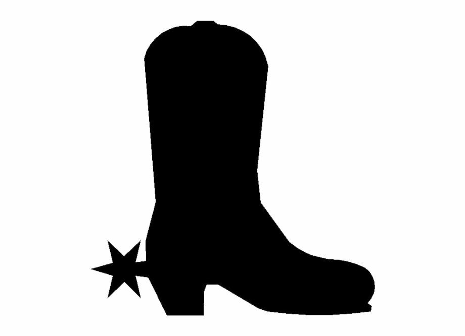 svg library download Western boot clipart. Cowboy icon black pngtube