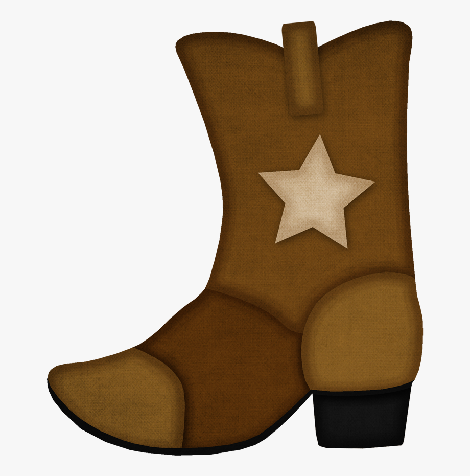 transparent Cowgirl brown cowboy boots. Western boot clipart
