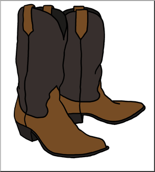 png freeuse download Clip art cowboy boots. Clipart western theme