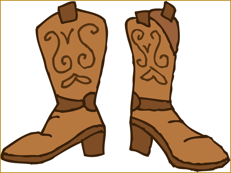 clip freeuse stock Western boots clipart.  shoes cowboy for
