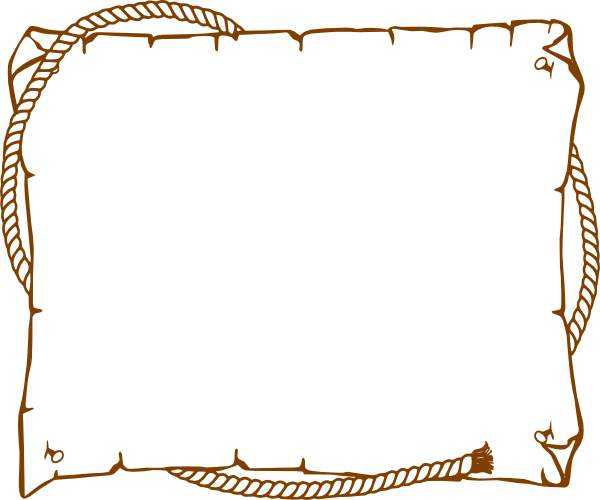 vector royalty free Western frame clipart. Free cowboy border cliparts