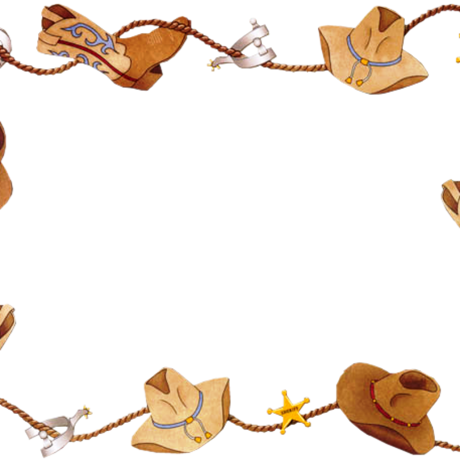 clip transparent download Western border clipart. Clip art cowboy american