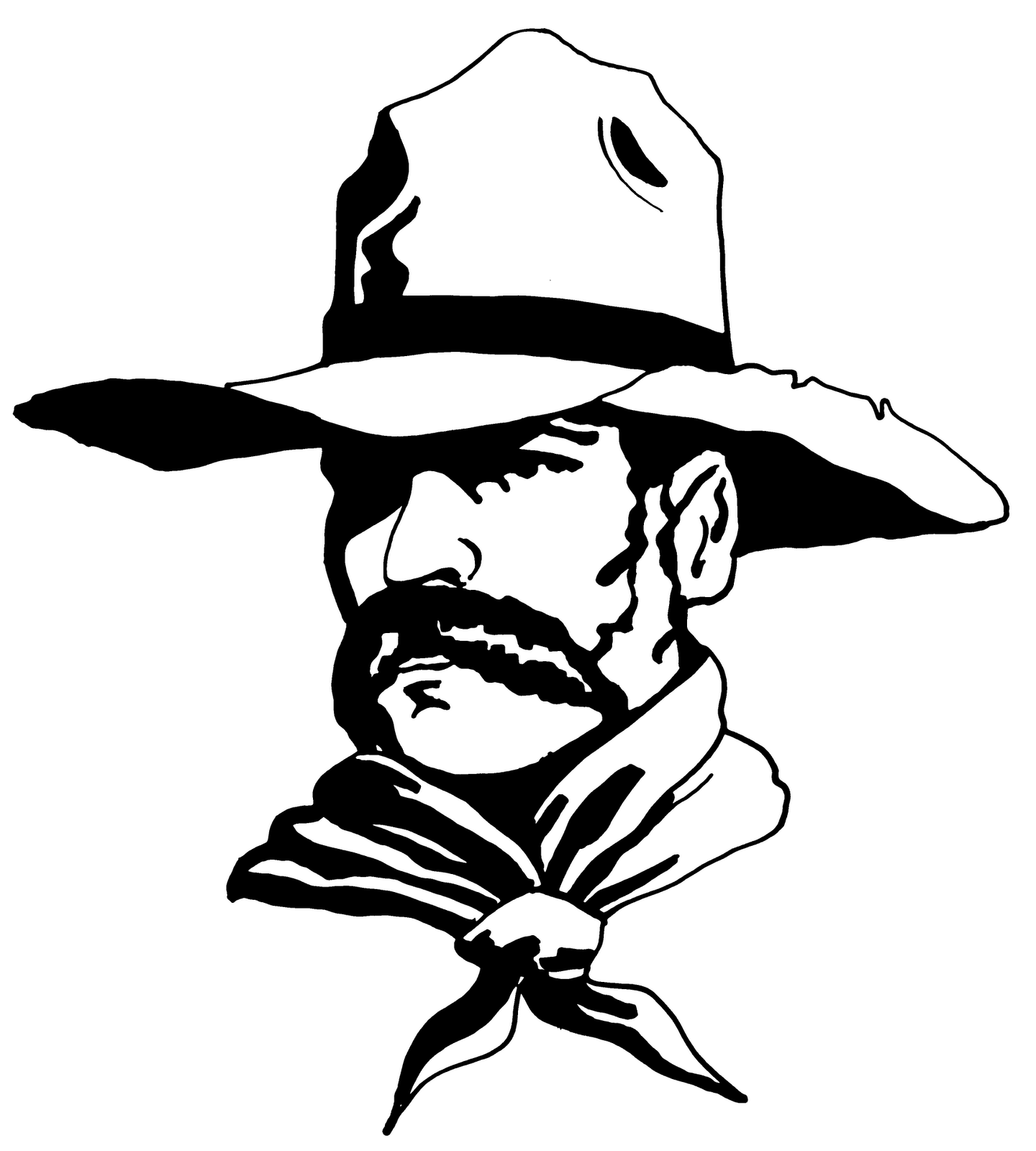 graphic library download Western clipart black and white. Free cowboy image