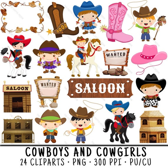 picture library library Cowboy cowgirl clip art. Western clipart images.