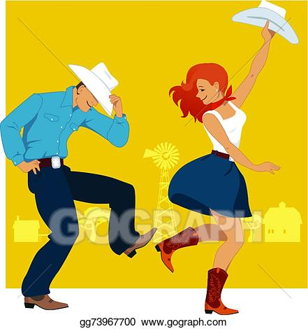 clip freeuse download Western dance clipart. Vector stock country illustration.