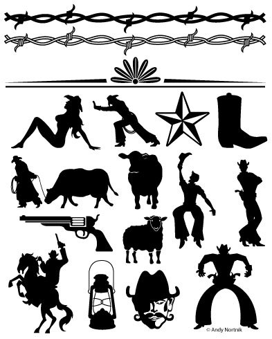 freeuse download Western design clipart. Clip art personal and