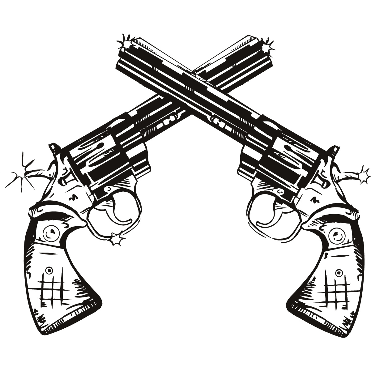 graphic freeuse stock Free download best . Western gun clipart