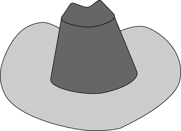 clip art black and white stock Cowboy clip art at. Western hat clipart