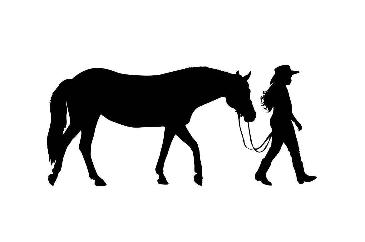 picture library download Western horse riding clipart. And rider wall decal