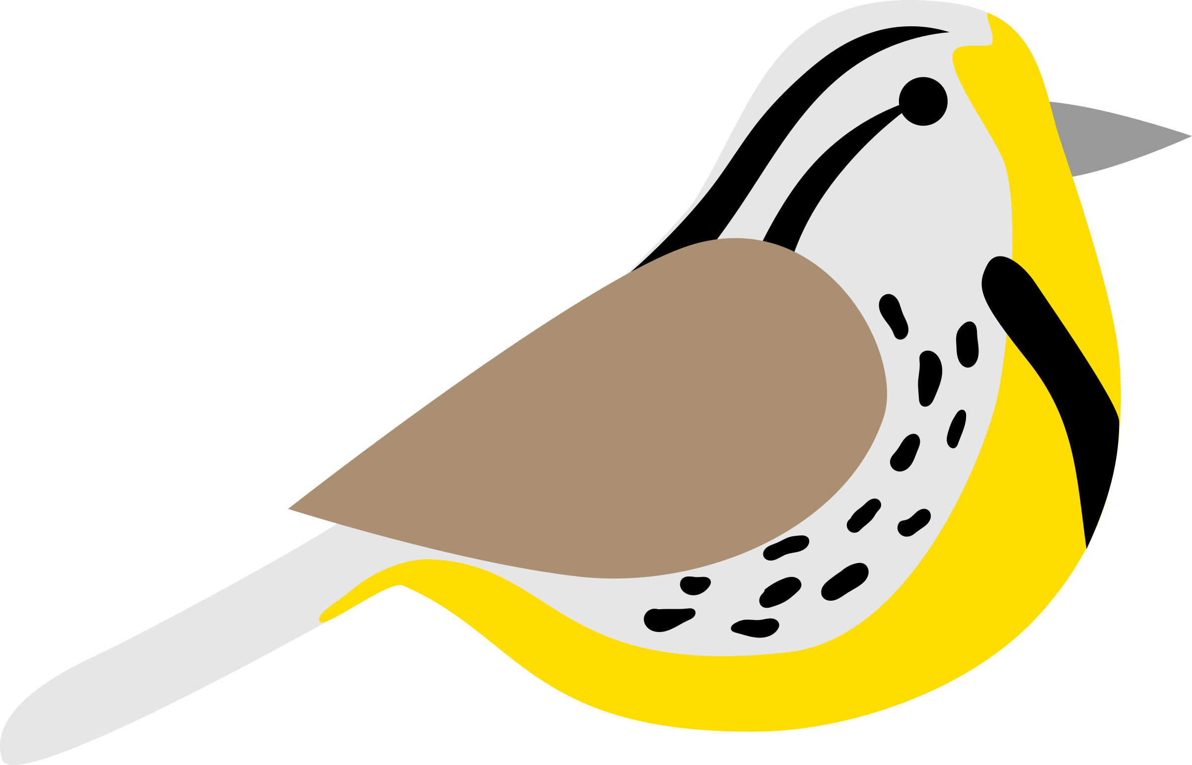 black and white download Western meadowlark clipart. Icons png free and
