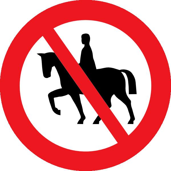 stock Western pleasure horse clipart. Riding prohibited white bg