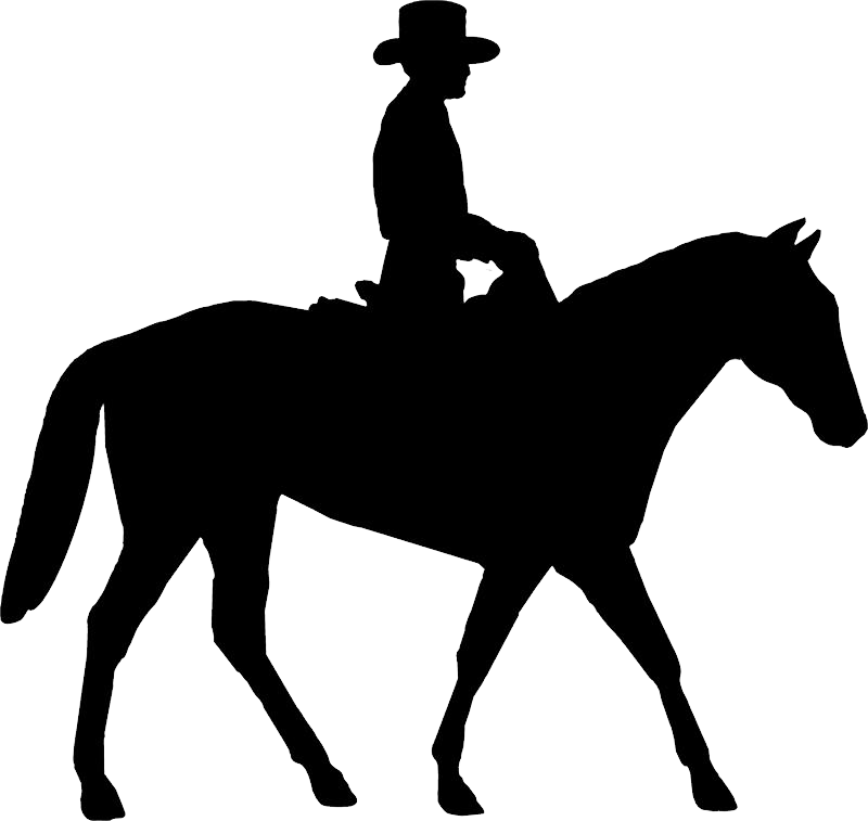 clip art royalty free stock Western pleasure horse clipart. Cowboy silhouette png image