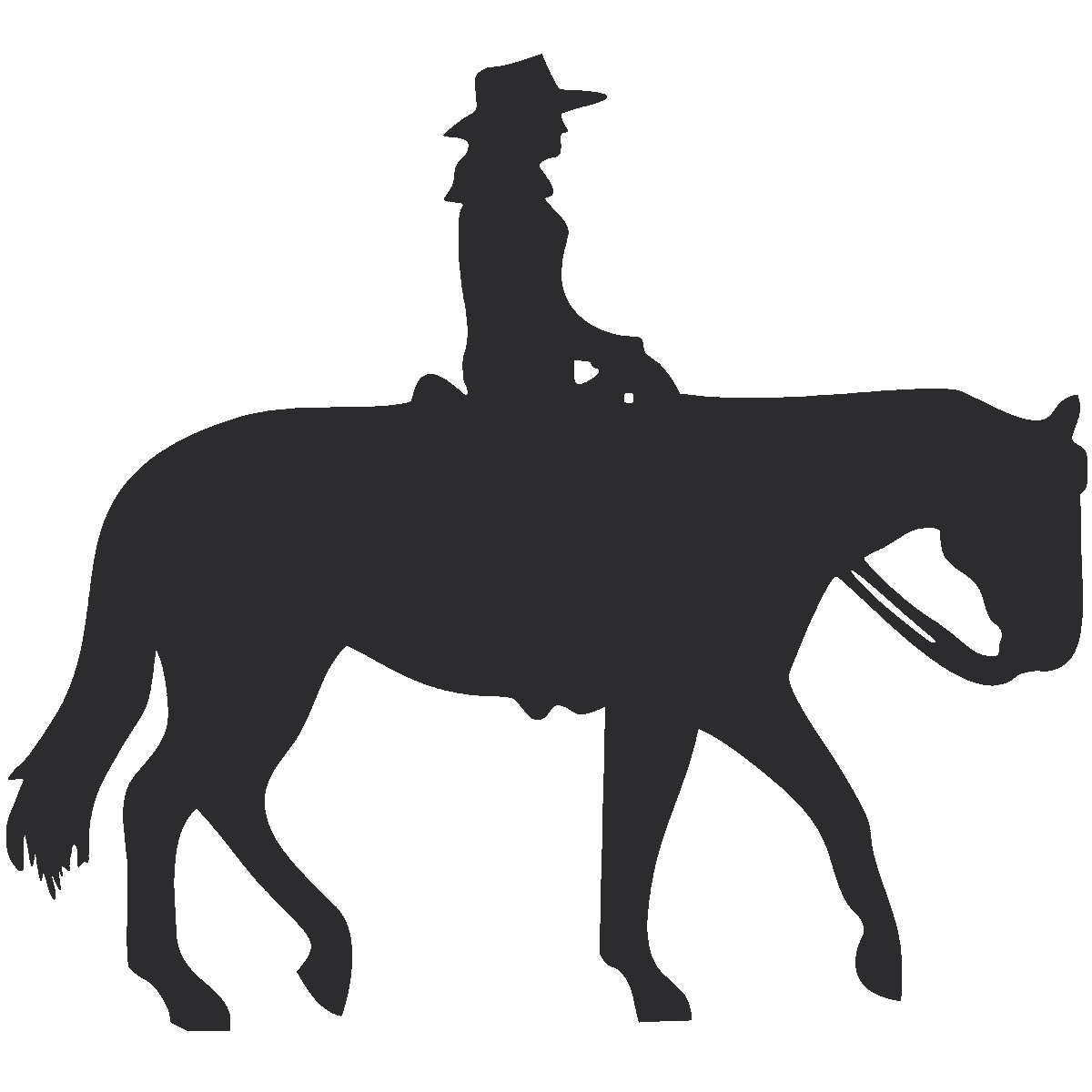 royalty free download Western horse clip art