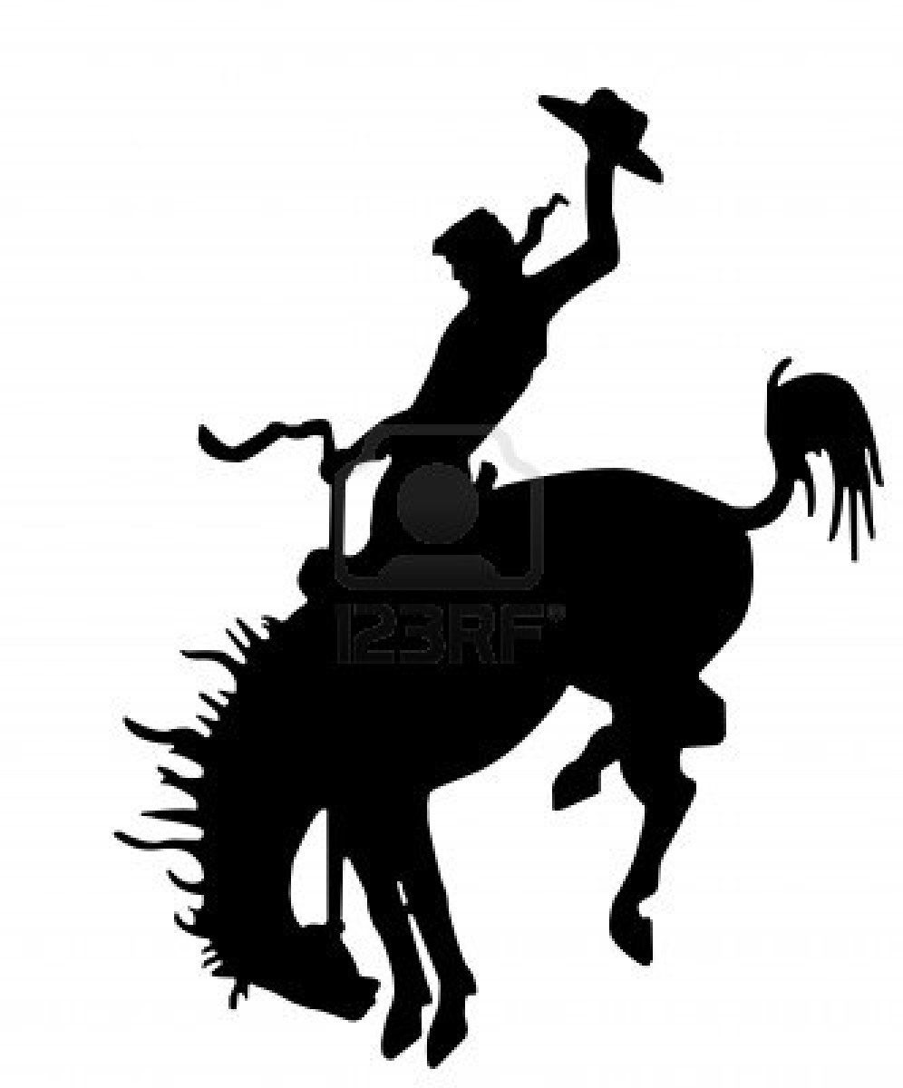 banner library download Western rodeo clipart. Bucking bronc silhouette silhouettes
