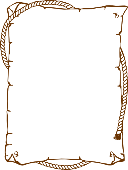 clip black and white library Western rope clipart. Border clip art at