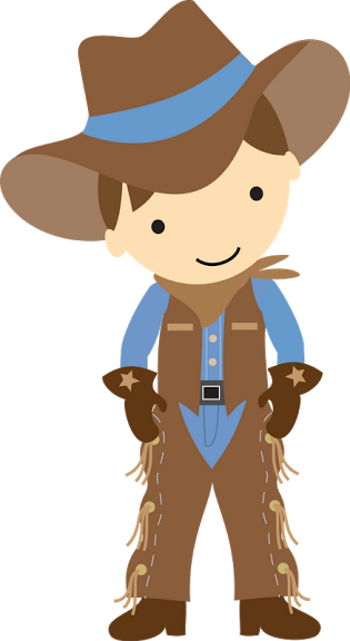 banner transparent Western roundup clipart. Brown haired cowboy carter