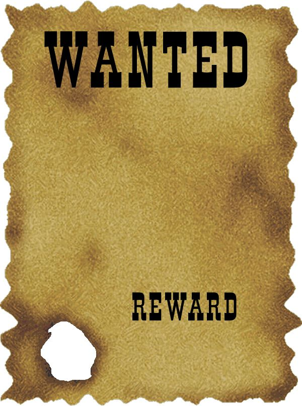 graphic transparent library Free download clip art. Western wanted poster clipart