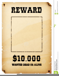 clipart royalty free stock Western wanted poster clipart. Free images at clker