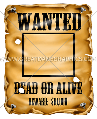 svg freeuse library Production ready artwork for. Western wanted poster clipart