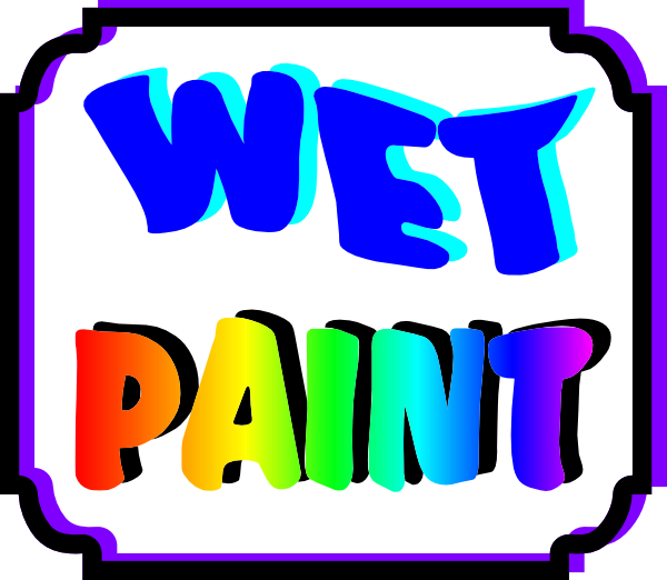 jpg freeuse library Wet clipart clip art. Paint sign at clker.
