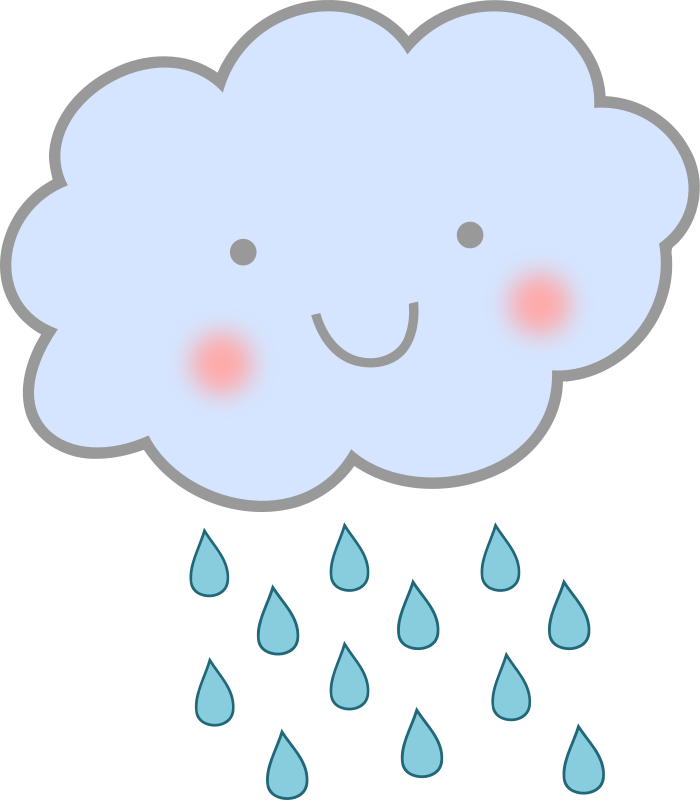 royalty free stock Animated clouds stickers pinterest. Wet clipart rain cartoon