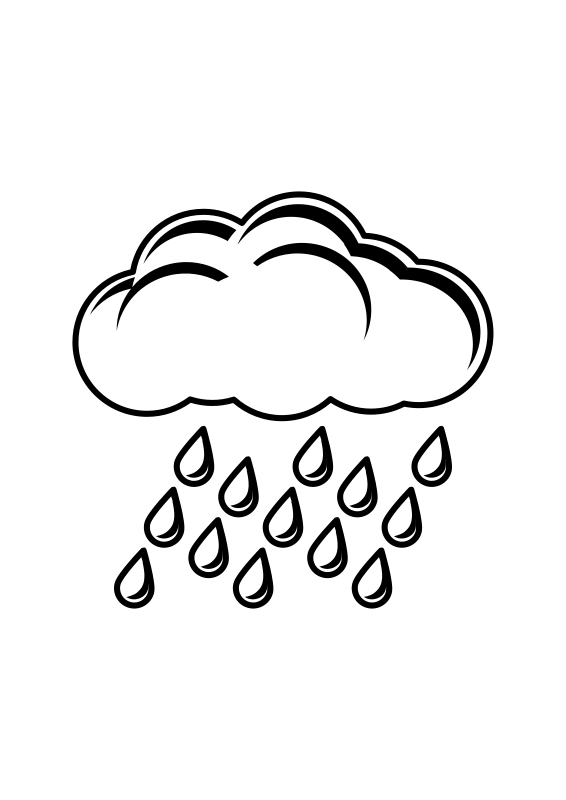 clipart stock Rainy panda free images. Cloudy clipart black and white.