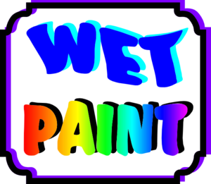 clip art library stock Wet Paint Sign Clip Art at Clker