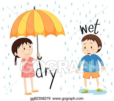image freeuse stock Wet clipart wet person. Eps illustration opposite adjective