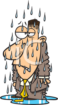 clip download Wet clipart wet person. Royalty free image of.