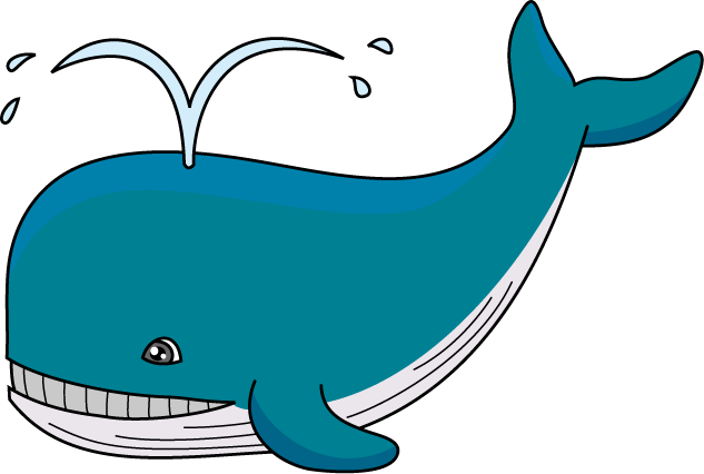 jpg freeuse stock Blue whale clipart. Colorful pencil and in