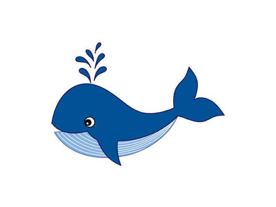 clipart black and white stock Whale clipart. Digital vector sea ocean.