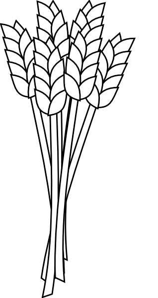 image royalty free download Wheat clipart black and white. Clip art at clker