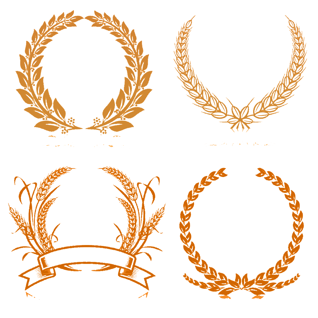 clip royalty free library Wheat border clipart. Laurel wreath stock photography