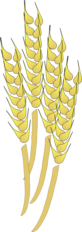 image royalty free library Wheat field clipart black and white. Free crop psd files